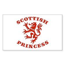 Scottish Princess Rectangle Bumper Stickers