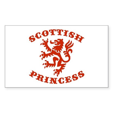 Scottish Princess Rectangle Sticker