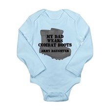 Army Daughter Dad Combat Boots Body Suit
