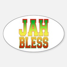 Jah Bless Oval Decal