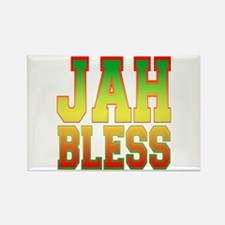 Jah Bless Rectangle Magnet