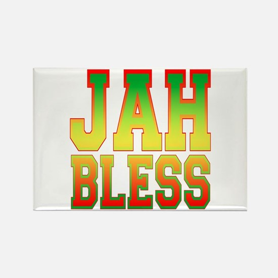 Jah Bless Rectangle Magnet