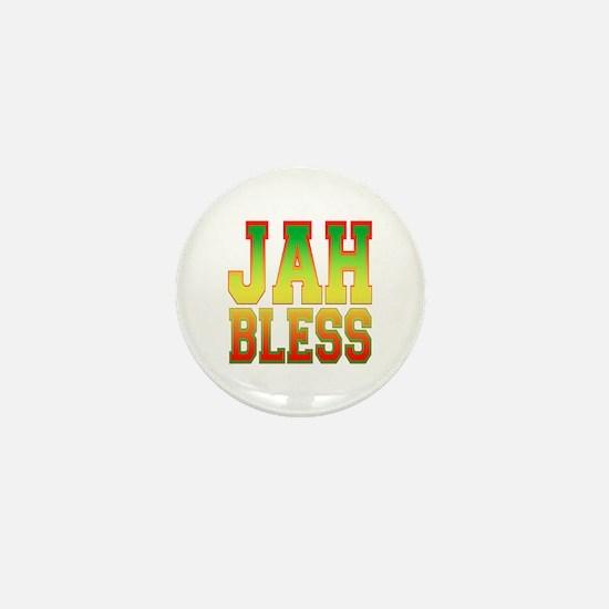 Jah Bless Mini Button