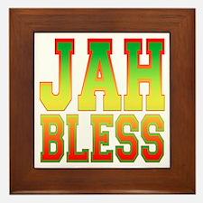 Jah Bless Framed Tile
