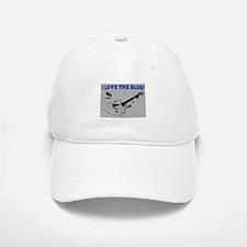 I LOVE THE BLUES Baseball Baseball Cap