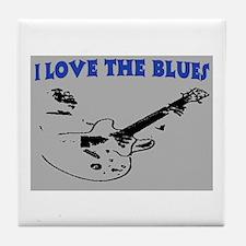 I LOVE THE BLUES Tile Coaster