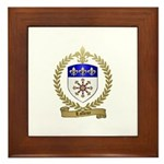 LAFLEUR Family Crest Framed Tile