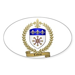 LAFLEUR Family Crest Oval Decal