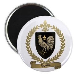 "POULIN Family Crest 2.25"" Magnet (10 pack)"