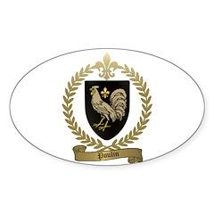 POULIN Family Crest Oval Sticker