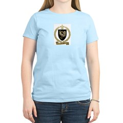POULIN Family Crest Women's Pink T-Shirt