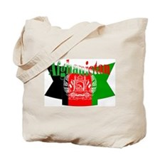 The flag of Afghanistan ribbon Tote Bag