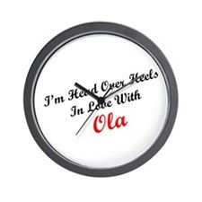 In Love with Ola Wall Clock