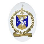 GRENIER Family Crest Oval Ornament
