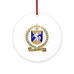 GRENIER Family Crest Ornament (Round)