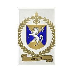 GRENIER Family Crest Rectangle Magnet (100 pack)