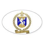 GRENIER Family Crest Oval Sticker
