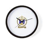 GRENIER Family Crest Wall Clock