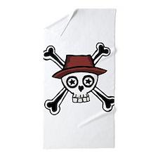 Trendy Cool dude skull head Beach Towel