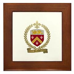 BOLDUC Family Crest Framed Tile