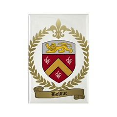 BOLDUC Family Crest Rectangle Magnet (100 pack)