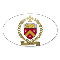 BOLDUC Family Crest Oval Decal