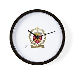 BOLDUC Family Crest Wall Clock