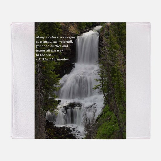 Waterfall 1.jpg Throw Blanket