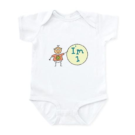 1 Year Old Birthday Infant Bodysuit