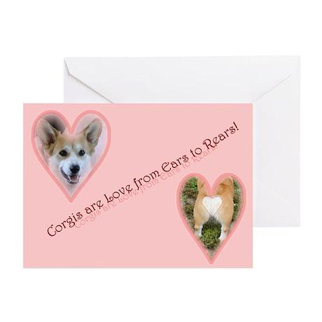 Welsh Corgi Valentine Greeting Cards (Pckg of 6)