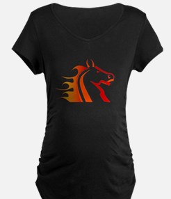 Fire Horse Maternity T-Shirt