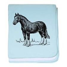 Clydesdale Horse Sketch baby blanket