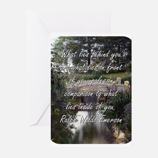 What Lies Behind You - R W Emerson Greeting Cards