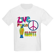 Love Peace Lava Lamp T-Shirt