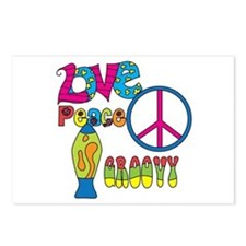 Love Peace Lava Lamp Postcards (Package of 8)