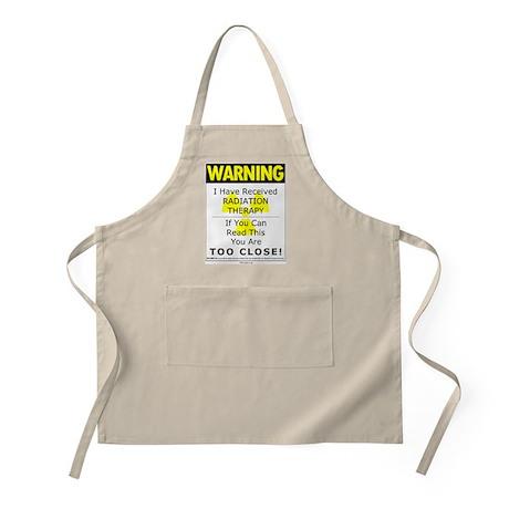 Radiation Warning BBQ Apron