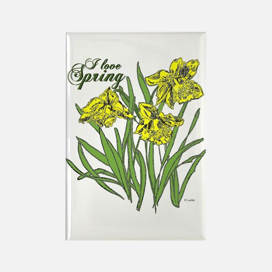 Daffodils Rectangle Magnet