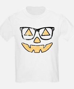 Vintage Jack-O-Lantern With Glasses Halloween T-Sh