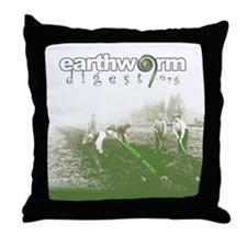 Wormdigest Throw Pillow