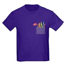 Flower Crayon Pocket T-Shirt