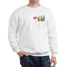 Flower Crayon Pocket Sweatshirt