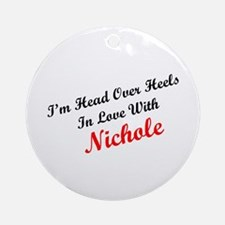 In Love with Nichole Ornament (Round)