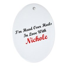 In Love with Nichole Oval Ornament