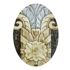 Architectural Element Oval Ornament