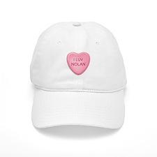 I Luv NOLAN Candy Heart Baseball Cap