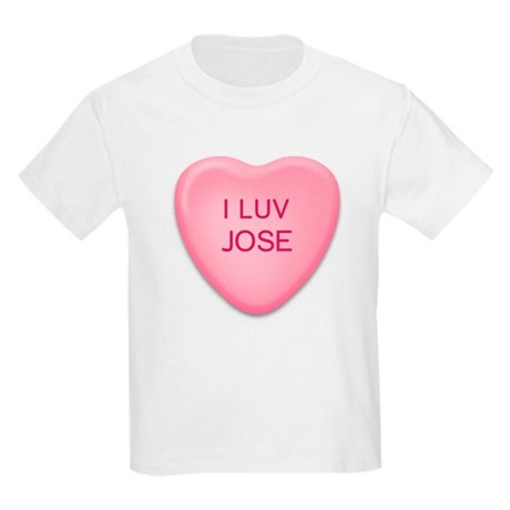 I Luv JOSE Candy Heart Kids T-Shirt