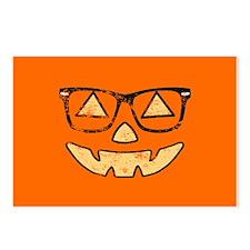 Vintage Jack-O-Lantern With Glasses Halloween Post