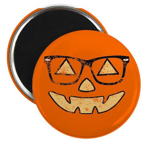 Vintage Jack-O-Lantern With Glasses Halloween Magn