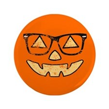 Vintage Jack-O-Lantern With Glasses Halloween 3.5""