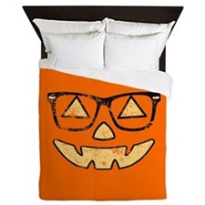 Vintage Jack-O-Lantern With Glasses Halloween Quee